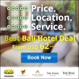Best Bali Hotel Deal. From USD 62++