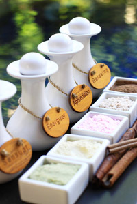 Spa options at Lagoon Spa Seminyak