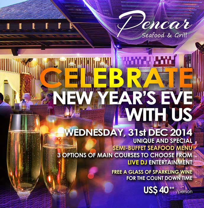 Christmas and new year 2015 celebration with pencar for What to make for new years eve dinner