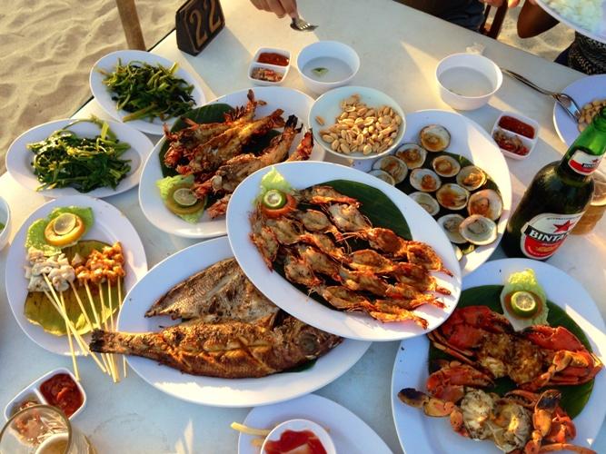 Seafood Menu Jimbaran Bali Beach