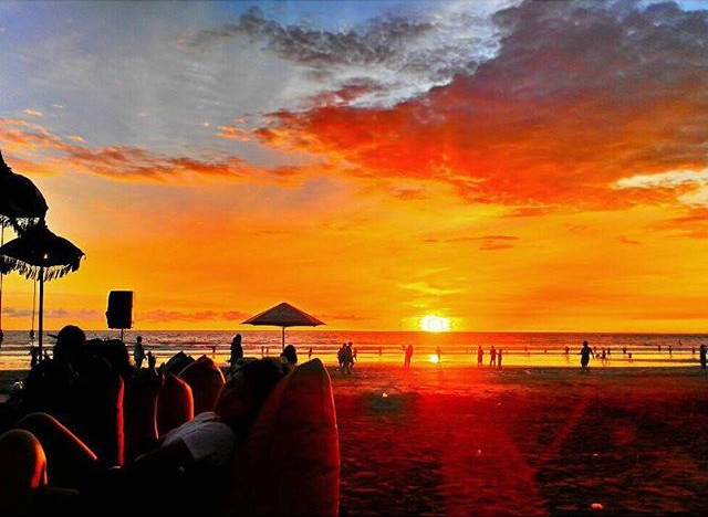 Glorious Sunset Bali Double Six Beach
