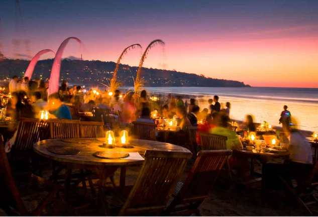 Sunset Dining Jimbaran Beach Bali Travel Blog