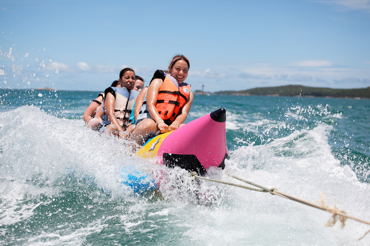 banana boat waterspot tanjung benoa bali